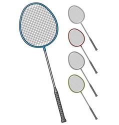 badminton racket vector image vector image