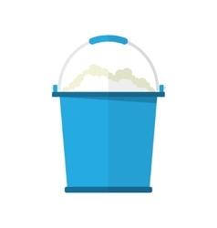 bucket with soap bubbles vector image vector image