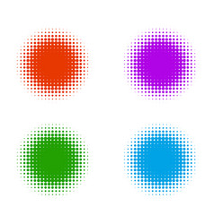 halftone color banners vector image