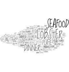 Lobster word cloud concept vector