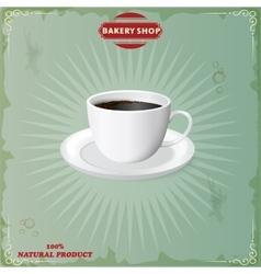 menu for coffee in vintage vector image