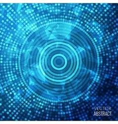 Shiny Blue Round Fantasy Mosaic Colorful vector image