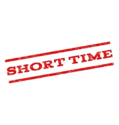 Short Time Watermark Stamp vector image