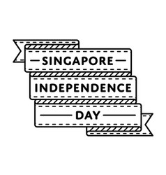 singapore independence day greeting emblem vector image
