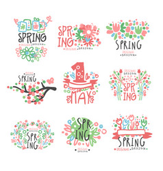 spring 1 may set original design spring holidays vector image vector image