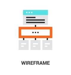 wireframe icon concept vector image vector image