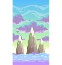 Cartoon vertical cloudscape vector image vector image