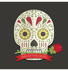 day of the dead decoration vector image vector image