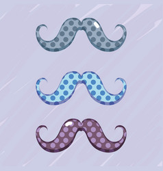set diferent mustache decoration design vector image vector image