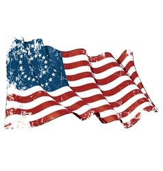 US Civil War Union 37 Star Medalion Flag Grunge vector image