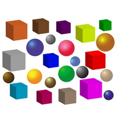 Balls and squares vector