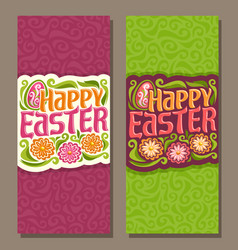 banners for happy easter vector image