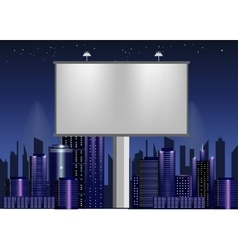 big billboard advertisement commercial blank vector image
