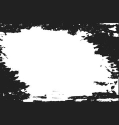 black paint on white background vector image