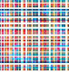 colorful grid seamless pattern with grunge effect vector image vector image