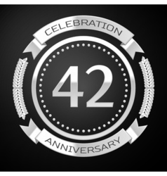Forty two years anniversary celebration with vector image vector image