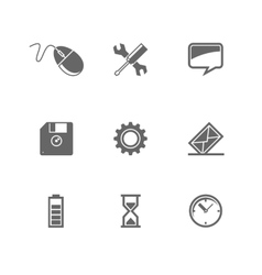 set of icons for mobile devices and Web site vector image vector image