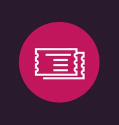 tickets icon vector image vector image