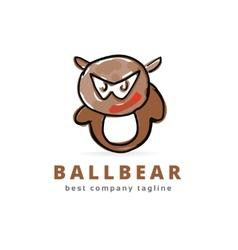 Abstract bear monster logo icon concept Logotype vector image vector image