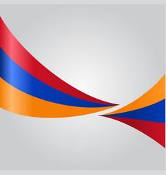 armenian wavy flag vector image vector image