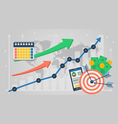 business banner - business analytics vector image