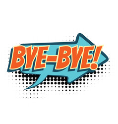 bye comic word vector image vector image