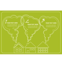 green village and clean enviroment infographics vector image vector image