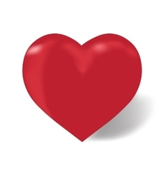 Heart of red color on a white background with vector image vector image