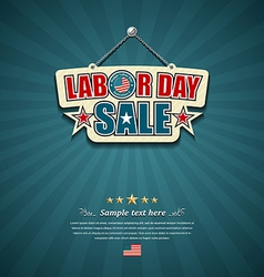 Labor day sale American signs vector image