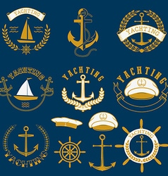 yachting labels and badgesjpg vector image