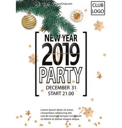 2019 happy new year party background for your vector