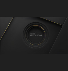 abstract luxurious black background with gold vector image