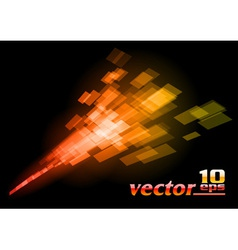 abstract squares on the dark vector image