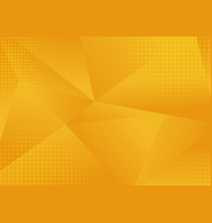 abstract yellow low polygon geometric consisting vector image