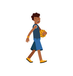 active teen boy palying basketball boy doing vector image
