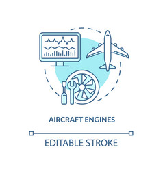aircraft engines concept icon vector image