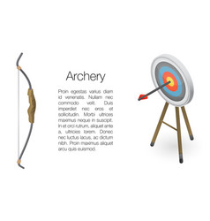 Archery concept banner isometric style vector