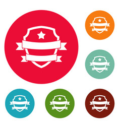badge hipster icons circle set vector image