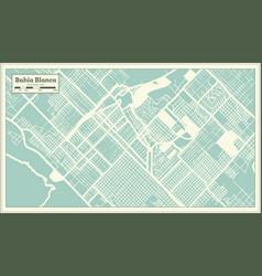 Bahia blanca argentina city map in retro style vector