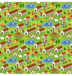 Big farmer pattern vector image