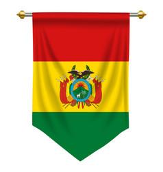 Bolivia pennant vector