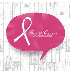 Breast Cancer Awareness Month Banner Logo for vector image