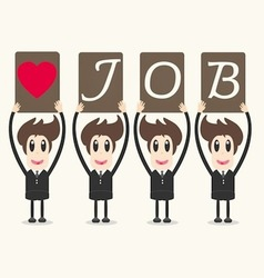 business man love job vector image