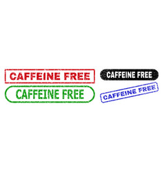 caffeine free rectangle stamps with distress style vector image