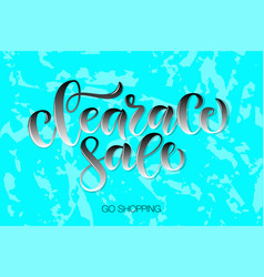 calligraphy word text phrase clearance sale vector image