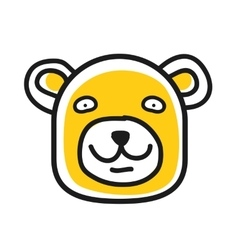 Cartoon animal head icon Bear face avatar vector image