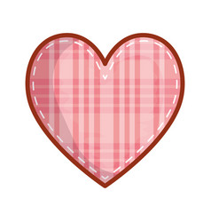 Checkered heart love valentines card vector