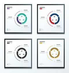 Circle infographic 2 color set vector