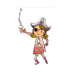 Close-up of girl holding sword vector