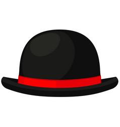Colorful cartoon bowler hat vector